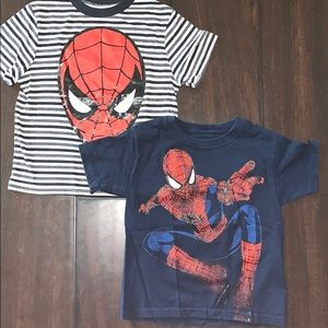 2 boys Marvel Spider-Man T-shirts